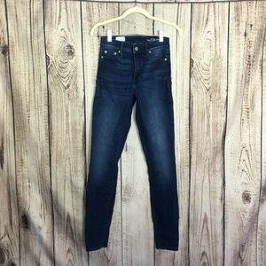 Gap 1969 Dark Wash Skinny Jeans 25